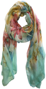 Exploded Colorful Floral Scarf