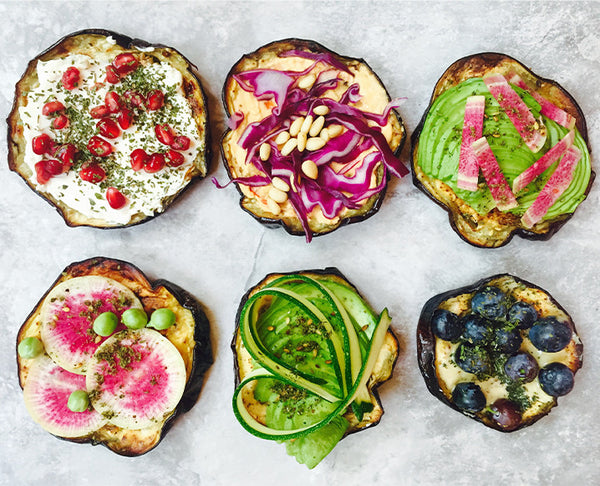"Gluten-Free Eggplant ""Toast"" Hors d'oeuvres"