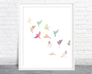 Bird Watercolor Series 1 Wall Art