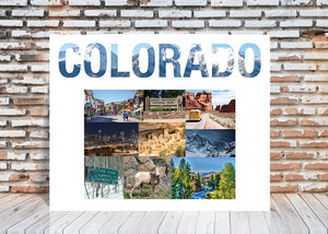 Colorado State Wall Art