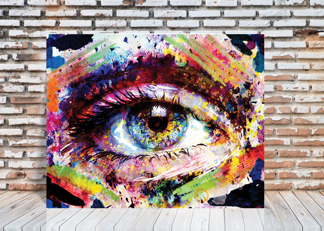 Colorful Eye Wall Art Castle And Rye