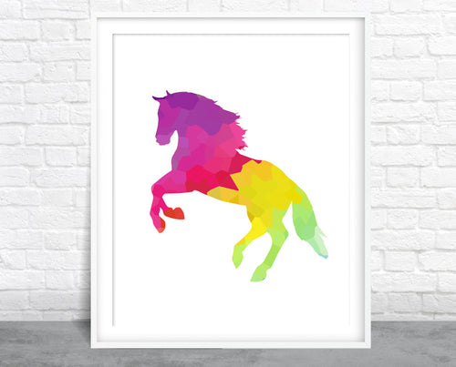 Colorful Horse Wall Art
