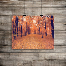 Fall Scene Photo, Street Art Print, Daytime Image, Travel Photography