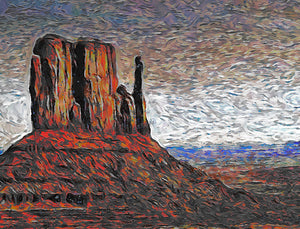 Navajo Peach Park Southwest Wall Art