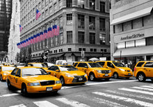 New York City Cabs 6 Wall Art