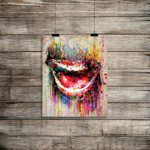 Lips Mouth Smile Wall Art