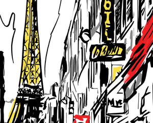 Paris Sketch Wall Art