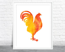 Rooster Watercolor Wall Art