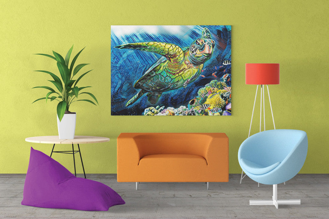 Sea Turtle Wall Art – Castle and Rye