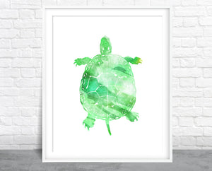 Turtle Watercolor Wall Art