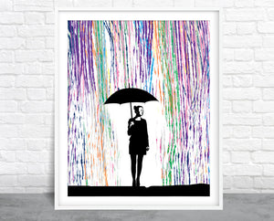 Color Rain Wall Art