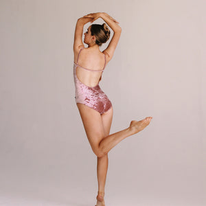 """Nolita"" Leotard Dusty Rose Velvet"