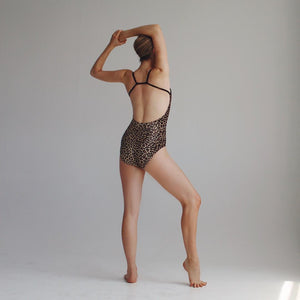 """Queens"" Leotard CHEETAH PWR Velvet"