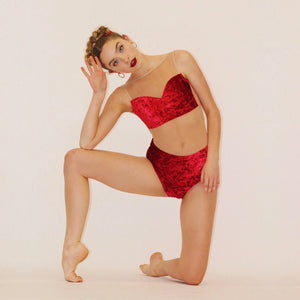 """Soho"" Leotard RUBY Velvet"