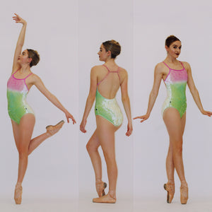 "OMBRE VELVET ""Queens"" Leotard"