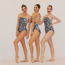 """Queens"" Leotard ZEBRA Velvet"