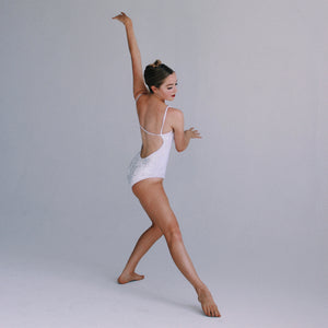 """Nolita"" Leotard White Velvet"