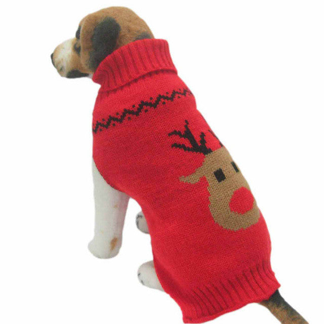 christmas reindeer sweater for large dogs - Large Dog Christmas Sweaters