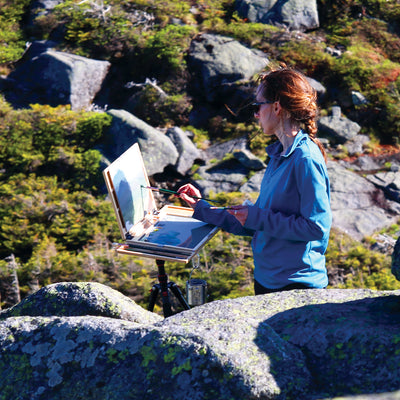 "u.go Plein Air Anywhere Pochade Box, 11"" x 14.5"" model, landscape plain air painting"