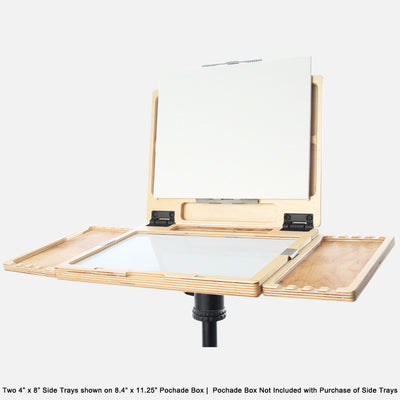 "u.go Plein Air Anywhere Side Tray 4"" x 8"" on u.go Anywhere Pochade Box 8.4"" x 11.25"""