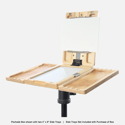"u.go Plein Air Anywhere Pochade Box, 6"" x 8"" model, on tripod with u.go Anywhere side trays"