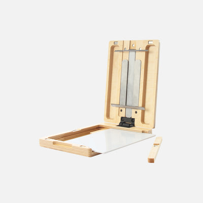 "u.go Plein Air Anywhere Pochade Box, 6"" x 8"" model, removable side wall and artist palette"