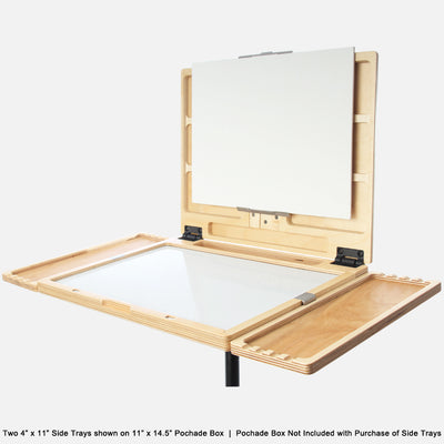 "u.go Plein Air Anywhere Side Tray 4"" x 11"" on u.go Anywhere Pochade Box 11"" x 14.5"""