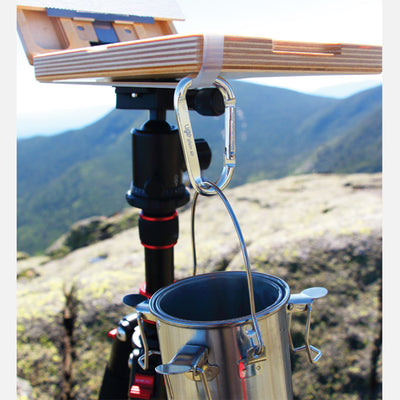 u.go Plein Air Carabiner holding a turp cup on a u.go Anywhere Pochade Box