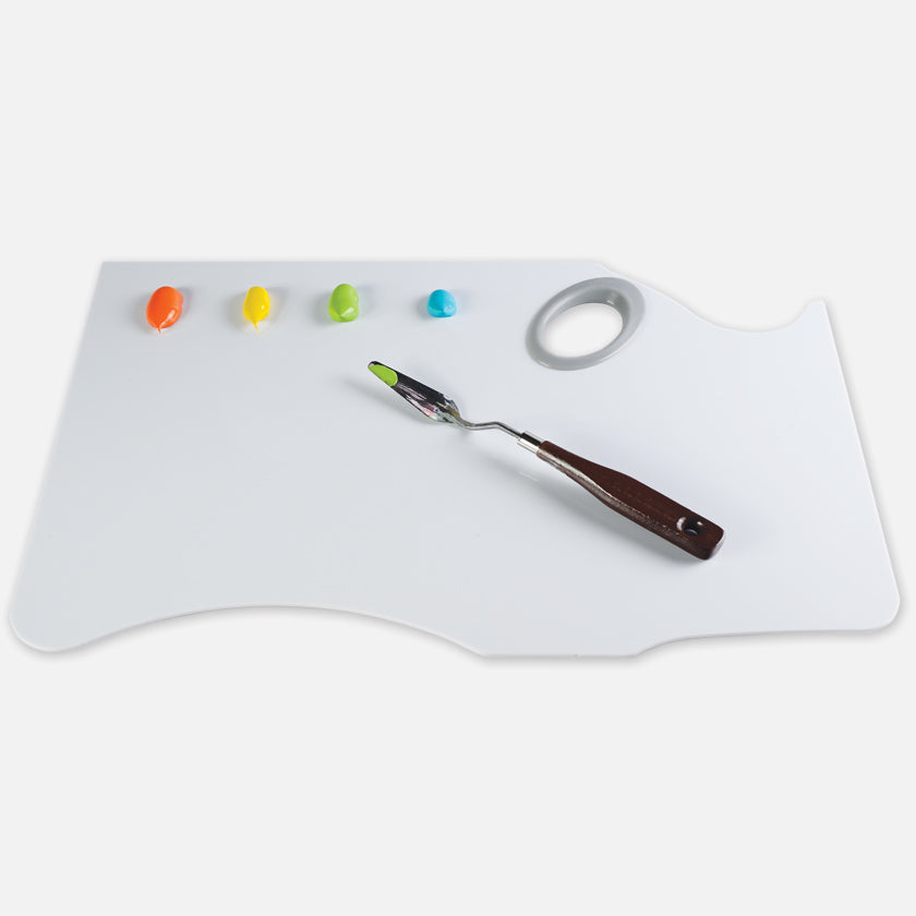 New Wave Easy Lift peelable artist paint palette with thumb gasket