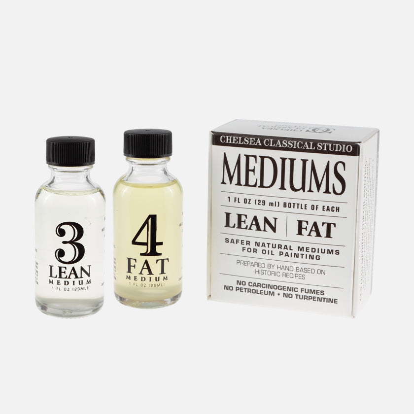 Chelsea Classical Studio Lean Medium For Oil Painting and Fat Medium For Oil Painting Kit