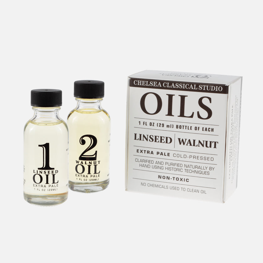 Chelsea Classical Studio Linseed Oil Pale Cold Pressed and Walnut Oil Pale Cold Pressed Kit
