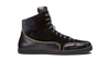 Black Wolfgang Gieler Designer Luxury Footwear High Tops
