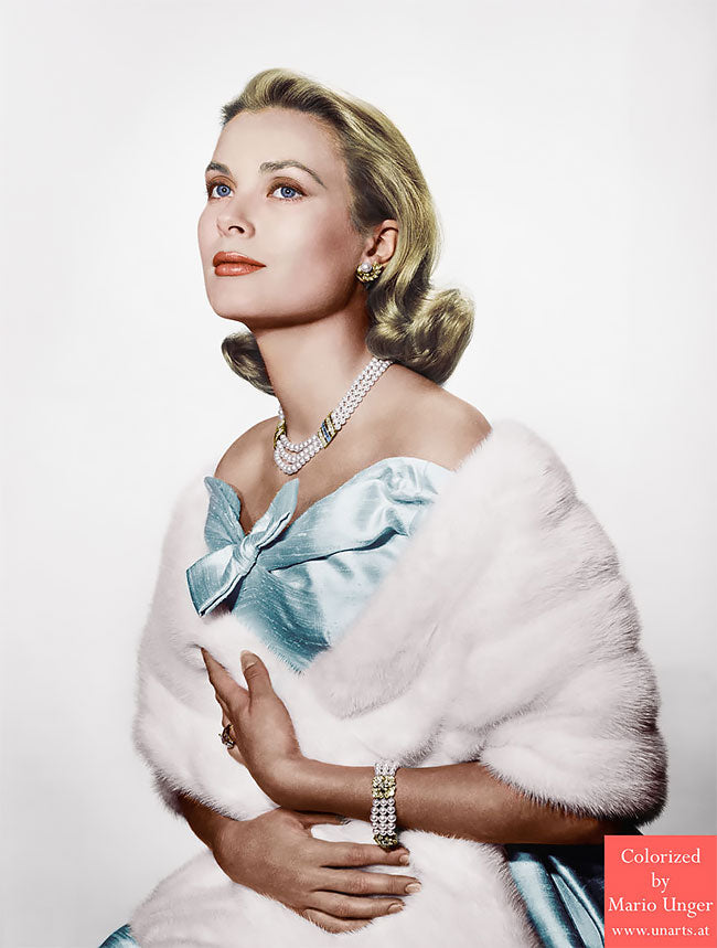 Grace Kelly colorised