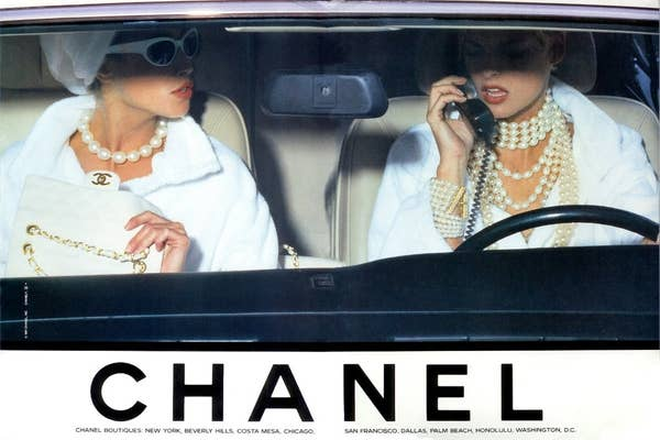 Christy Turlington and Linda Evangelista photographed by Karl Lagerfeld for CHANEL Spring/Summer 1991