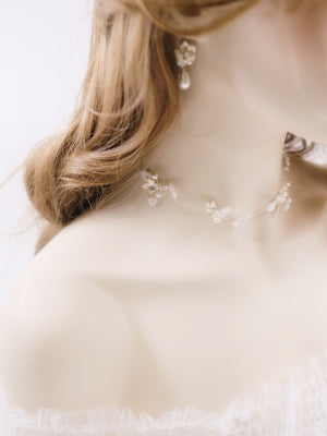 Romantic bridal necklace handmade wedding accessories Singapore & Hong Kong