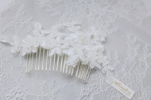 Hong Kong handmade wedding hair accessories vintage style lace hair comb for brides