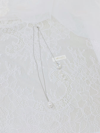 Classic wedding backdrop necklace jewellery gift for bride
