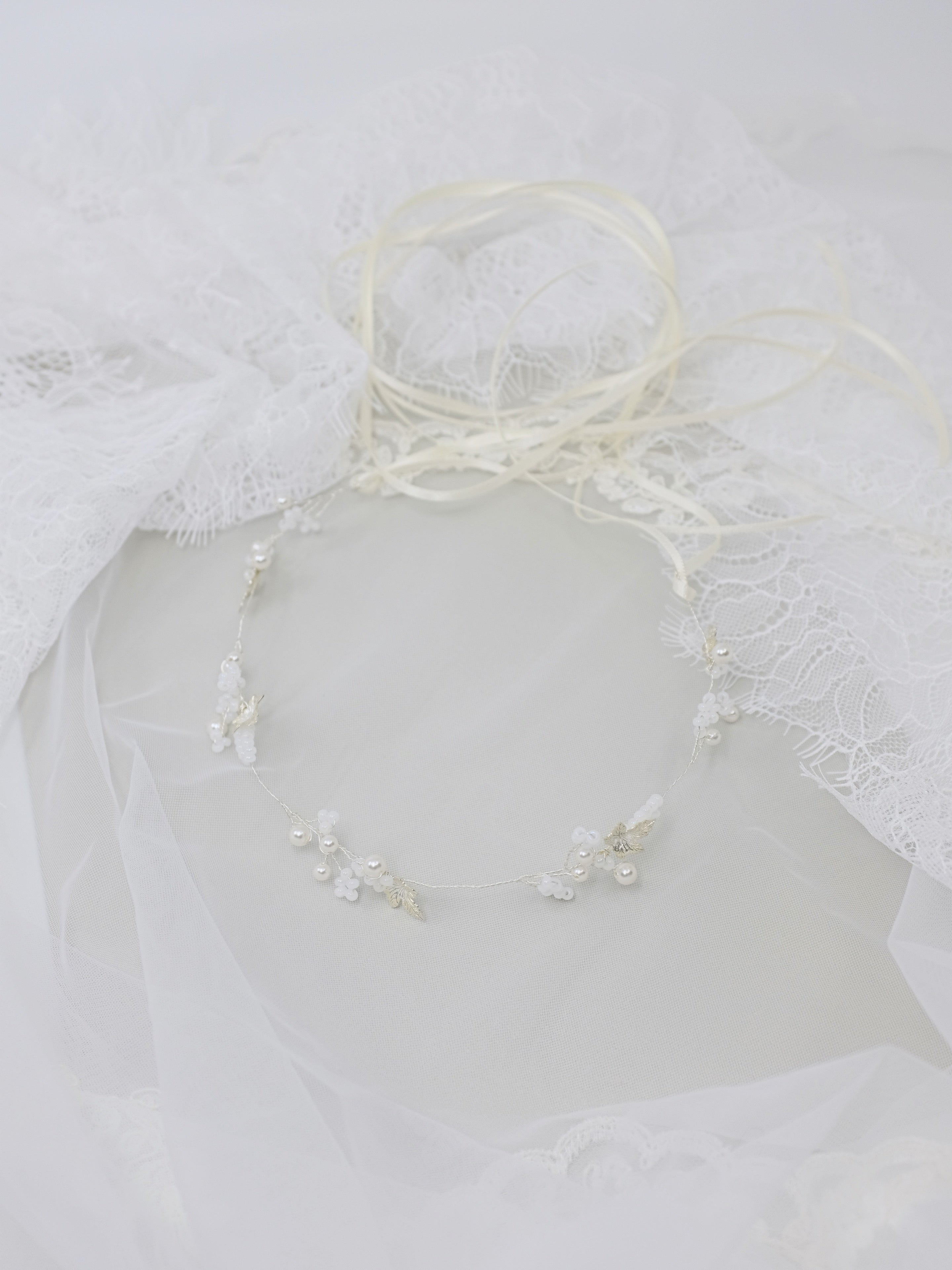 Bridal hair vine and necklace, handmade wedding accessories Singapore