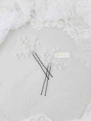 Singapore handmade bridal hair accessories wedding floral hair pin