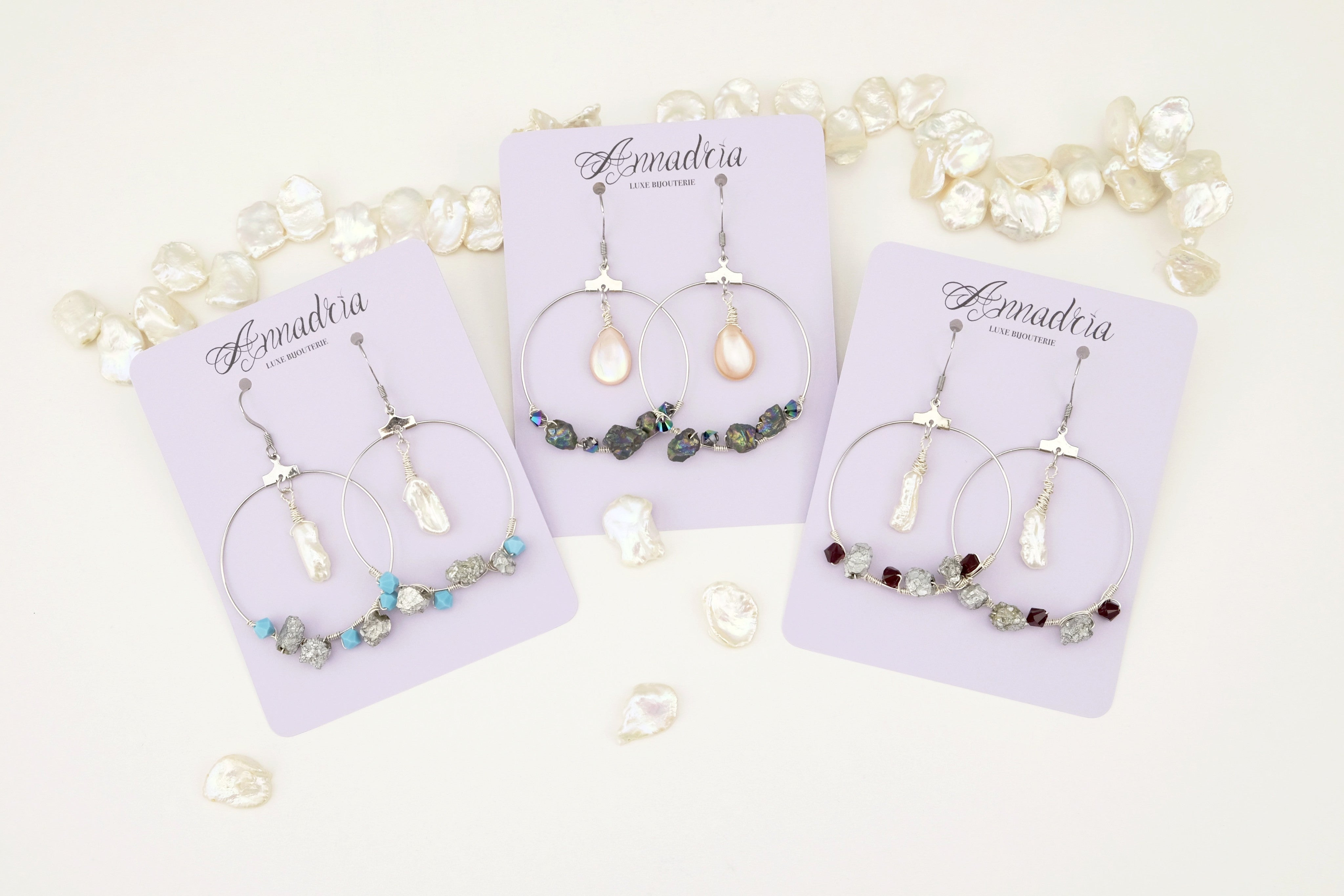Fantine hoop earrings