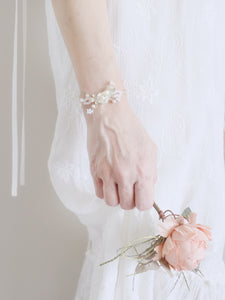 Romantic bridal jewellery handmade delicate wedding bracelet