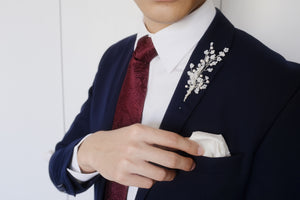 Dapper groom wedding accessories unique cool boutonniere