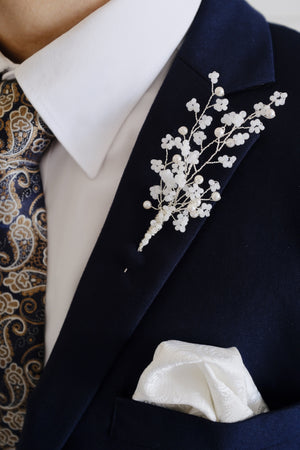 Bespoke wedding boutonniere for groom custom made