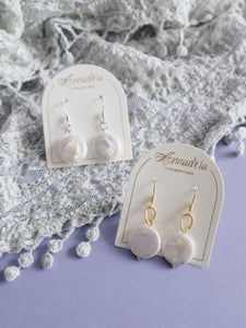 Luna pearl drop earrings