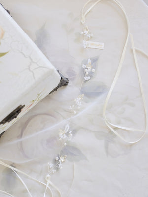 Luxury wedding hair accessories for fine art weddings