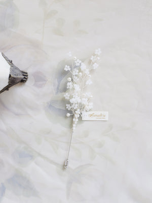 Unique groom beaded boutonniere no flowers