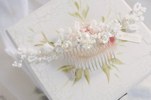 White handmade wedding accessories, customised and bespoke Singapore and Hong Kong jewellery artist