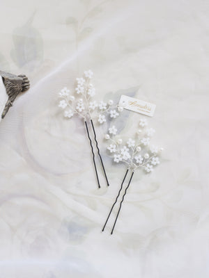 Handmade wedding hair accessories Hong Kong luxury bridal hair pins