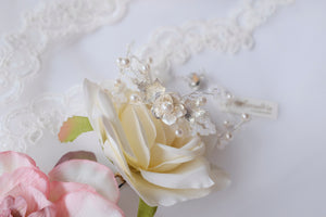 Elegant bridal bracelet handmade vintage inspired wedding accessories
