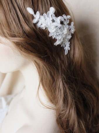Singapore wedding hair accessories, lace bridal hair piece handmade